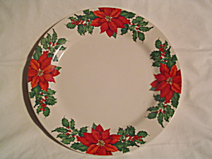 Hallmark Poinsettia Dinner Plates