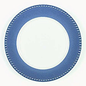 Dansk Miss Match Cobalt Blue Bead Rim Dinner Plates
