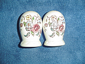Metlox Vernonware Mayflower Salt And Pepper Shakers