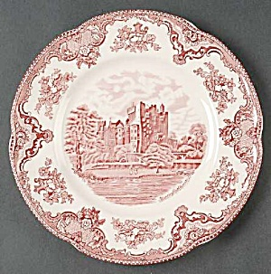 Johnson Bros Old Britain Castles Pink Dinner Plates Crown Stamp