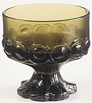 Franciscan Madeira Olive Green Footed Sherbet Glasses