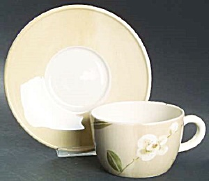 Crate & Barrel Orchid Cup Saucers - No Cups