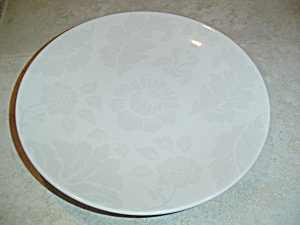 Martha Stewart Mse Beige/gray Flowers And Leaves Salad Plates