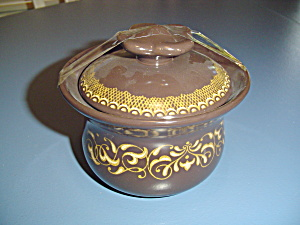 Franciscan Jamoca Covered Sugar Bowl