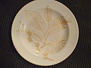 222 Fifth Gold Leaves Bread And Butter Plates