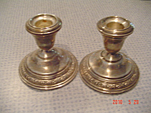 Wallace Silver Sterling Normandie Pattern Candleholders - Pair
