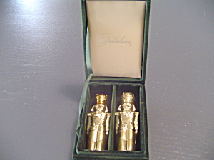 I. Godinger Greenbriar Silver Plated Salt/pepper Shakers Nutcrackers