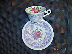 Spode-copeland Mayflower Cups And Saucers - Saucers Crazed