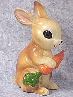Rabbit With Carrot Figurine