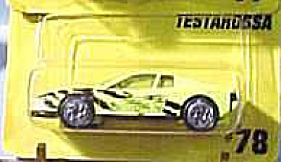 Matchbox #78 Lime Testarossa