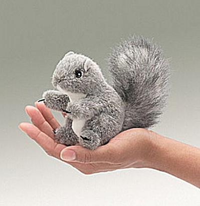 Folkmanis Finger Puppet Gray Squirrel