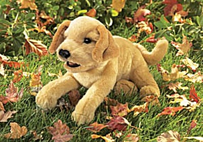 Folkmanis Hand Puppet Yellow Labrador Puppy