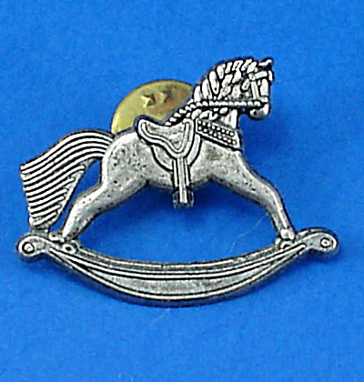 1998 Hallmark Pewter Rocking Horse Pin