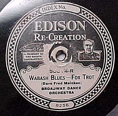 Edison Record #50874: 'sal-o-may' And 'wabash Blues'