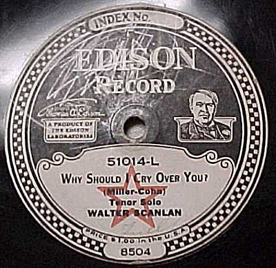 Edison Record #51014: 'sunset Trail' 'why Should I Cry'