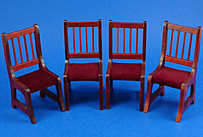 Dollhouse Wood Chairs, Set Of 4