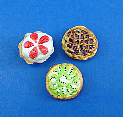 Dollhouse Miniature Tart Trio