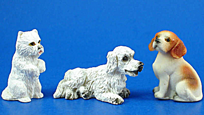 Miniature Dog Set Of Three