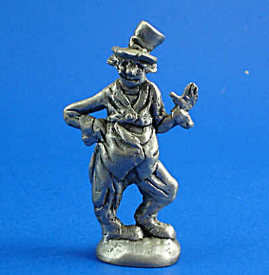 Pewter Miniature Clown Waving