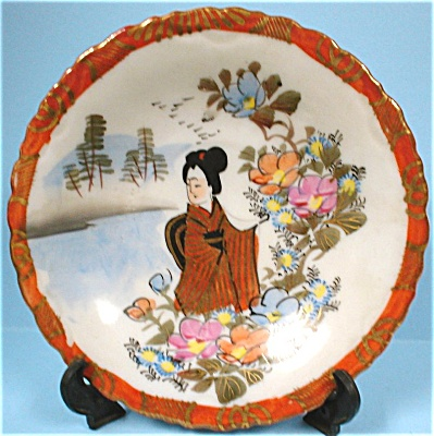 C1900 Oriental Handpainted Small Plate