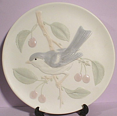 Crowning Touch Bluebird And Cherries Wall Plaque