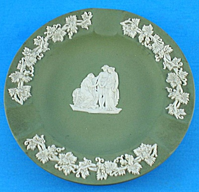 Wedgwood 1958 Green Jasperware Ashtray