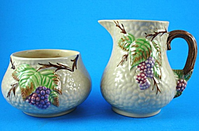 Wade Bramble Cream Pitcher And Open Sugar Bowl