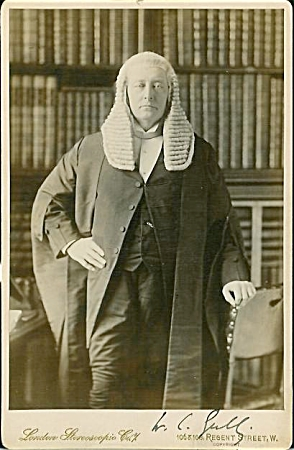 Cabinet Photo - English Judge C.1880-90