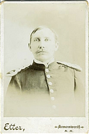 Cabinet Photo... Army Officer From Indian Wars. N.h.