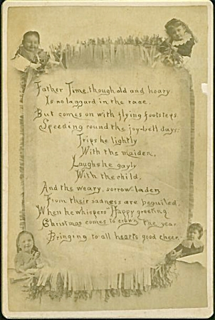 Cabinet Photo - Christmas Poem Surrounded By Kids