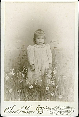 "Cabinet Photo - Girl In ""field"" Of Daisies"