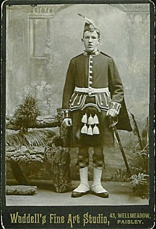 Cabinet Photo -argyll & Sutherland Highlander