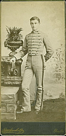 Cabinet Photo - Cadet In Uniform 1880's