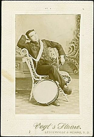 South Dakota Cabinet Photo Of Drummer In Uniform