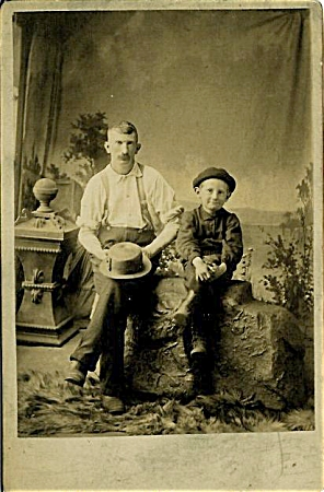 Huck Finn & Father In Cabinet Photo