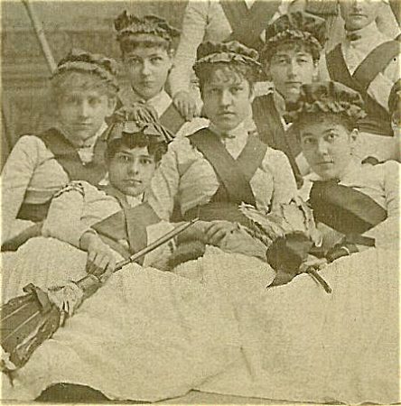 Cabinet Photo - 1880's Broom Girls - A+