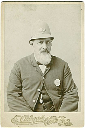 Cabinet Photo Occupational Policeman-gloucester Mass