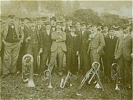 Cabinet Photo - Town Band - Great Faces