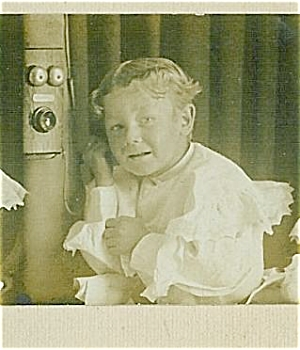 Cabinet Photo - Multiple Poses - Boy On Telephone.