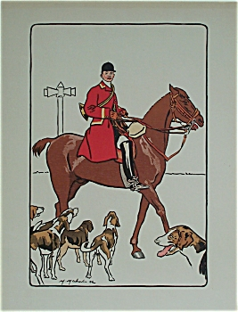 1904 Lithograph Hunt Scene By Mahut (Before Letters)