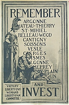 Wwi Original Poster Remember Argonne, Chateau-thierry