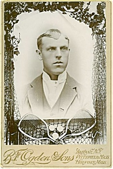 Cabinet Photo - 1890's Tennis Player.