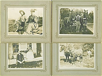 Cabinet Photo - 4 Great Photos Of Farm Family 1800's.