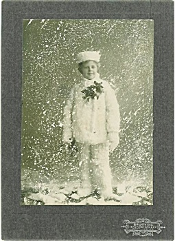 Cabinet Photo - Boy In Studio Snowstorm.