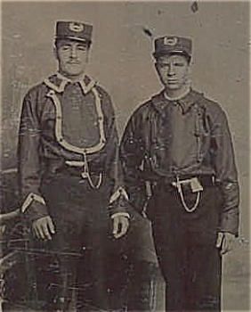Tintype - Early Firemen Or Street Car Conductors?