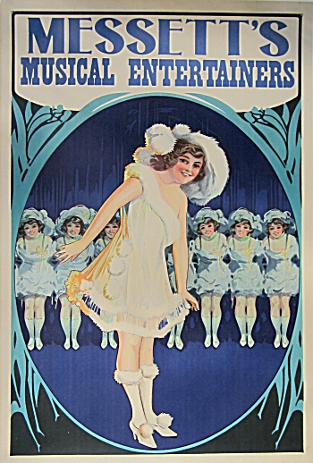 Messett's Musical Entertainers Vintage Poster C.1910