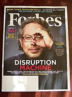 Forbes, Volume 198, No. 7, November 29, 2016