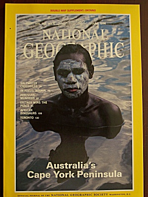 National Geographic, Volume 189, No. 6, June 1996