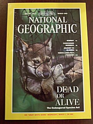 National Geographic, Volume 187, No. 3, March 1995