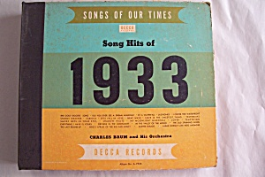 Song Hits Of 1933